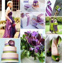 270 best Wedding - Purple & Green images on Pinterest | Wedding ...