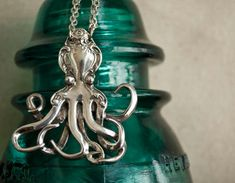 Spoon Necklace Octopus by Silver Spoon Jewelry by silverspoonj - can we just look at how AWESOME this is!? I wanna try my had at this.