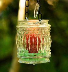 Glass candle holder vintage mason jar lantern alternative | Etsy