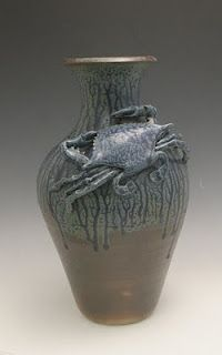 Carolina Creations Fine Art and Contemporary Craft: Crab pottery and sculpture by Dianne Lee North Carolina potter