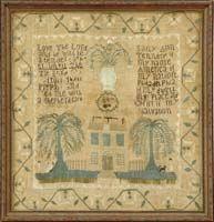 PHILADELPHIA SAMPLER OF SALLY ANN TENNERY, 1804