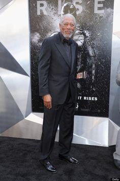 Morgan Freeman at 'The Dark Knight Rises' Premiere in #NYC #redcarpet #fashion