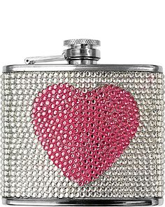 PINK HEART FLASK PINK accessories misc. gifts no sub class