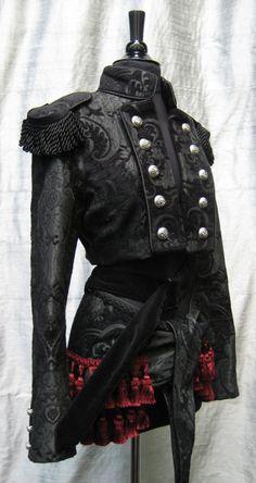 """Shrine """"Toreador"""" jacket in black tapestry.(via @Kenny Milano)"""