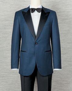 Men's Blue Tuxedo custom made dinner suit evening by DanielandLade, Dinner Suit, Dinner Jacket, Tuxedo Jacket, Suit Jacket, Blue Tuxedos, Bespoke Suit, Modern Gentleman, Tuxedo For Men, Mens Suits