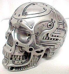 Robotic Human Skull by chrystal