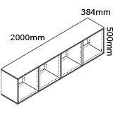 kaboodle flat pack living room 2000mm base cabinet