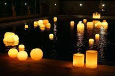 velas flotantes en piscina - Buscar con Google