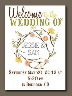 Printed Wedding Program - Bohemian Elegance, Rustic Wedding, Spring Wedding, Summer Wedding. $3.00, via Etsy.