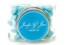 Classic and elegant, this monogram label was designed just for Nuts.com customers!  #nutsdotcom and #wedding