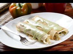 Crepas de pollo con poblano | Cocina y Comparte | Recetas