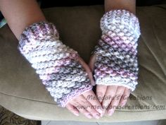 Crochet tutorial that teaches you how to make Crocheted FIngerless Gloves using the Raspberry stitch for Crochet. You can find the Written pattern here http:...