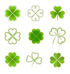 Clover leaves with drops of dew Lucky Clover leaf vector image on VectorStock Celtic Clover Tattoos, Celtic Tattoos, Mini Tattoos, Cute Tattoos, Tatoos, Family Symbol, Shamrock Tattoos, Irish Symbols, Three Leaf Clover