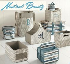 Organize every room of your home with these coordinating prints from Thirty-One.  www.mythirtyone.com/kknisley