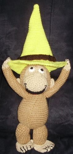 Curious George A Crochet Pattern by Erin by ErinScullsToyStore