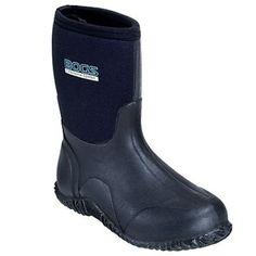 Bogs Boots Women's Waterproof Insulated Black Rubber Work Boots 61152,    #Bogs,    #61152,    #Women'sBoots