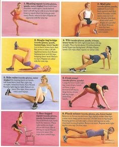 Various leg and butt exercises