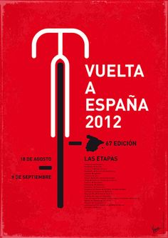 """Poster produced by Vincent Vermeij for """"Vuelta a..."""