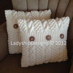 Pdf Muster stricken Strickmuster Kabel Kissen von LadyshipDesigns