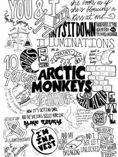 SV1819 Arctic Monkeys Painting Indie Rock Band Music BW Art 24x18 Print POSTER VerettiPosters http://www.amazon.com/dp/B00IC60AEK/ref=cm_sw_r_pi_dp_nb8Ntb1MWCTN73AK