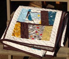 Window View Quilt Pattern - PDF Lunden Designs featuring Charley Harper fabric.