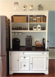 Diy hutch remodel! Love the before and after!