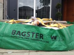 Bagster Dumpster in a Bag. Perfect for small renovations & junk cleanup - Storefront Life