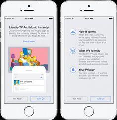 Facebook agregará función para identicar canciones, películas y programas de TV de forma similar a como lo hace Shazam, para después compartilo automáticamente.