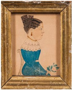 Miniature Portraits, Wall Boxes, Tiny Treasures, Crowley, Old And New, Watercolor Art, Folk Art, 19th Century, Stencils
