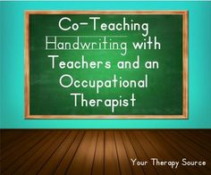 Co-Teaching Handwriting - pinned by @PediaStaff – Please Visit ht.ly/63sNtfor all our pediatric therapy pins