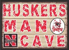 Huskers Man Cave Sign - Nebraska