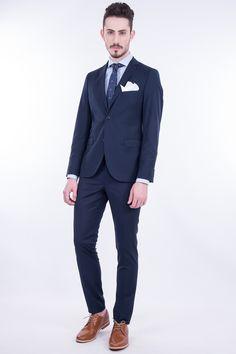 Elastic Slim Fit 2-Button Suit