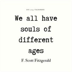 91 | F. Scott Fitzgerald Quotes Series  | 190619 Art Print by valourine