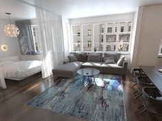 Small Apartment Ideas – Modern Home Deco Studio, Studio Apt, Studio Living, Studio Apartment Layout, Studio Apartment Decorating, Studio Apartment Organization, Studio Apartment Divider, One Room Apartment, Studio Layout