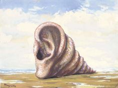 Untitled (Shell in the form of an ear), Oil by Rene Magritte (1898-1967, Belgium)
