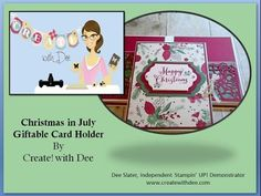 Christmas in July Card Folder - And It's a Kit To Go - Create! with Dee