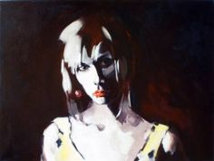 """Saatchi Art Artist Pat Dumez; Painting, """"Girl With a Pearl"""" #art"""