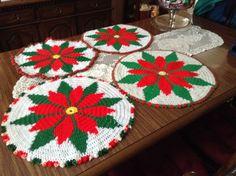 Crocheted Poinsetta
