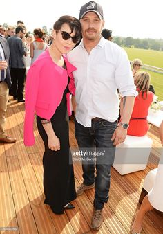 Noomi Rapace (L) and Tom Hardy attend day one of the Audi Polo Challenge at Coworth Park on May 28, 2016 in London, England.