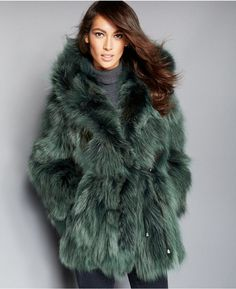 The Fur Vault Hooded Coyote-Fur Parka Green Parka Coat, Fur Fashion, Womens Fashion, Green Fur, Fur Clothing, Clothing Accessories, Fabulous Furs, Faux Fur Jacket, Outerwear Women