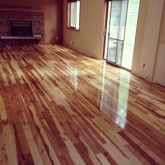 Hickory refinished hardwood floors Bloomington MN http://www.arnesfloorsanding.com