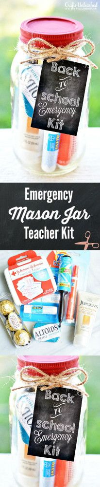 Teacher Kit: Emergency Mason Jar Kit With Free Printable