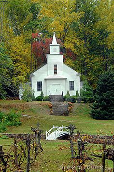 country church | Country Church With Grape Arbor
