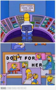 The Simpsons. One of the man reasons I love the simpsons so. Simpsons Simpsons, Simpsons Frases, Simpsons Episodes, Simpsons Quotes, Homer Simpson, Homer And Marge, Lisa Simpson, Memes Humor, Funny Memes