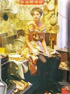 Sasha Pivovarova in 'White Nights' by Tim Walker for Vogue UK, January 2007