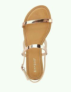 Sandals Summer - Bamboo Metal-Plated Flat Sandals: Charlotte Russe - There is nothing more comfortable and cool to wear on your feet during the heat season than some flat sandals. Women's Shoes, Prom Shoes, Cute Shoes, Wedding Shoes, Me Too Shoes, Shoe Boots, Golf Shoes, Shoes Flats Sandals, Sandals Outfit