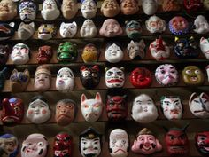 This mask museum has a collection of masks dating back many years, and includes many Japanese folk tale  characters #japan #okayama #kurashiki