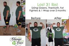 Wow! Look at these amazing Before and After Results of a fellow It Works Distributer's Husband!