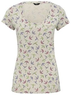 M&Co - Shop online and get the latest looks for women, men, kids and the home plus free delivery when you spend or more M&CO Bird Prints, Looking For Women, Scoop Neck, T Shirts For Women, Shopping, Tops, Fashion, Moda, Fasion