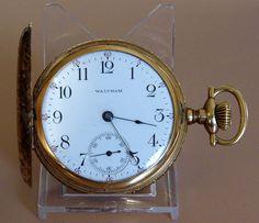 Vintage Waltham Hunting Case Pocket Watch, Model 1899, 14kt Gold Case, Grade No. 630, 17 Jewels, Size 16, Circa 1903.